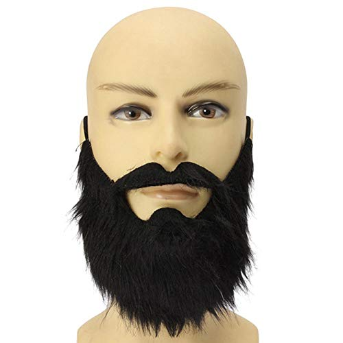 EDFVA Kostüm gefälschte Bärte Halloween Kostüm Party Schnurrbart schwarz Halloween für Pirate Zwerg Elf James Harden Cosplay SF (Halloween Schnurrbart Kostüme)
