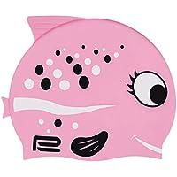 Gorro de natación para niños con diseño de pez en muchos colores y motivos, Rosa1
