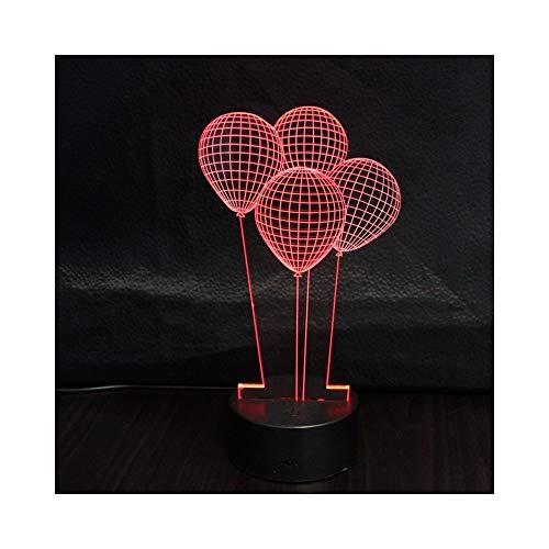 LED Illusionslicht, optische Nachttischlampe Nachtlicht Beleuchtung Kinderlampe Schlaf Beleuchtung 7 Farbe Touch-Taste dekorative Tischlampe ()