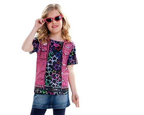 Viving Costumes Rockstar Girl Short Sleeve T-Shirt  4-6 Years
