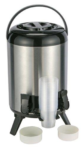 9 Liter Thermoskanne & 2 Zapfhähnen Große Isolierkanne Glühwein Spender Kessel Airpot