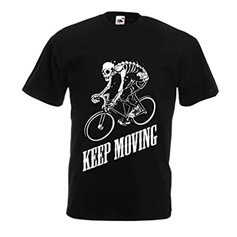T shirts for men Motivational Quotes - The life is like riding a bicycle. To keep your balance, you must keep moving. (XXX-Large Black Multi Color)