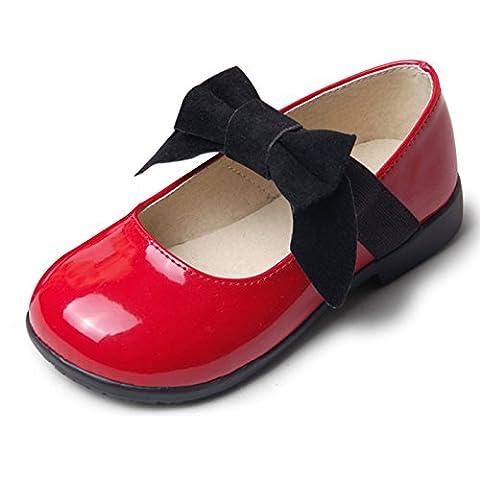 CHNHIRA Enfant Été/Automne Chaussure à fond plat vernis bébé chaussure