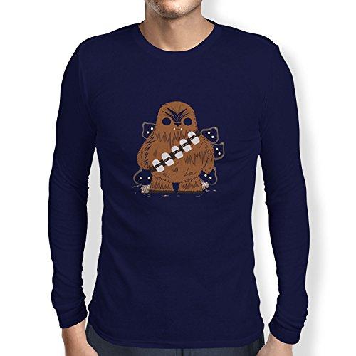 TEXLAB - Chewie and Jawas - Herren Langarm T-Shirt Navy