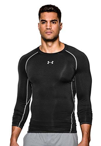 Under Armour Herren Kompressions-Shirt Langarm HeatGear Armour schwarz (200) XXL (Short Blk Shirt Sleeve)