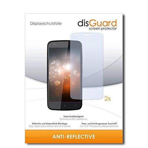 disGuard® Bildschirmschutzfolie [Anti-Reflex] kompatibel mit Gionee Ctrl V5 [2 Stück] Entspiegelnd, Matt, Antireflektierend, Extrem Kratzfest, Anti-Fingerabdruck - Panzerglas Folie, Schutzfolie