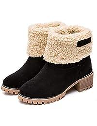 FCGV Botas Gruesas de Las Mujeres del otoño del Invierno Zapatos Gruesos de  Las Botas Calientes 43ad50aa9566