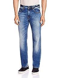 Migo Garments's Men's Denim Stretchable Jeans(Shaded Blue,28)