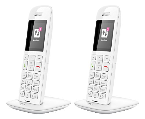 Telekom 114196 10 Duo Set 5 cm (2 Zoll) Diagonale, 176 x 220 Pixel Speed-Telefon weiß