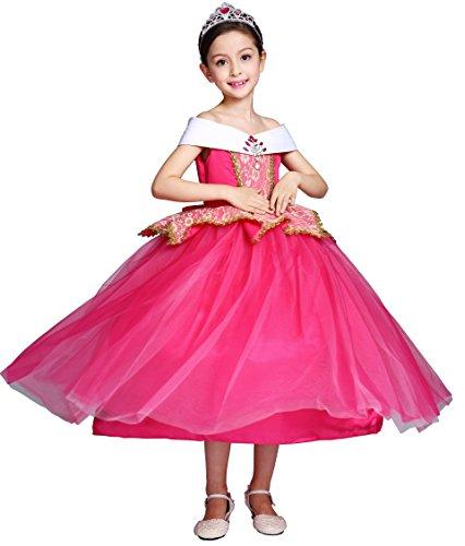 Das Beste Mädchen Kostüm Aurora Princess Halloween Geburtstag Party Kleid Cosplay Fancy ()