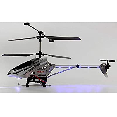 Mogicry Remote Control Helicopter Large Alloy Drop Resistant Remote Control Helicopter Adult Children's Toys Model 3.5 Channels With Gyro And LED Light For Indoor Ready To Fly Aerial Photography