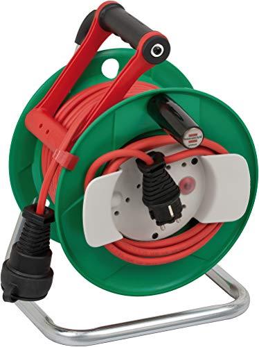 Brennenstuhl Garant G IP44 Gartenkabeltrommel (Kabeltrommel mit 23+2m Kabel, Spezialkunststoff, kurzfristiger Einsatz im Außenbereich)