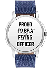 Wrist Watch For Men - Proud To Be A Flying Officer Best Gift For FLYING OFFICER - Analog Men's And Boy's Unique...