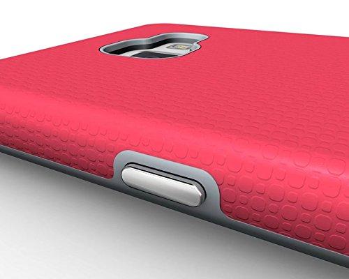 YHUISEN Galaxy A5 2016 Case, 2 In 1 TPU und PC Ultra Slim Anti-Rutsch Anti-Shock Rüstung Kratzer Resistant Schutzhülle für Samsung Galaxy A5 2016 A510 ( Color : Black ) Rose