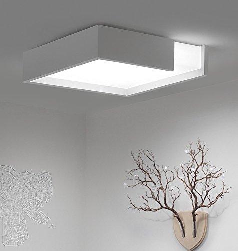 Einfache LED quadratische Deckenlampe Schlafzimmerbeleuchtung Ideen ( größe : 41*41*12CM (Malerei Ideen Einfache)