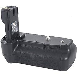 DSTE Multi-Puissance Vertical Batterie Poignée Titulaire pour Canon EOS 20D 30D 40D 50D DSLR Caméra comme BG-E2N