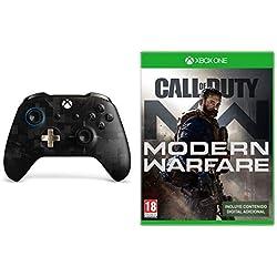 Microsoft - Mando Inalámbrico PUBG Edición Limitada (Xbox One), negro + Call of Duty: Modern Warfare