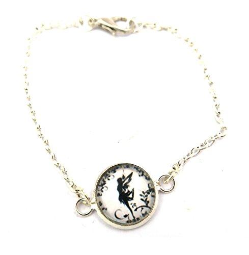 schmuck-stadt Fee Cabochon Motiv Damen Armband Silber-Farben Elfe