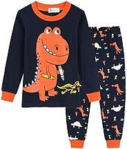 Pijama Manga Largos para niños Pijamas de Dinosauro Loungewear Algodón 1-7 años