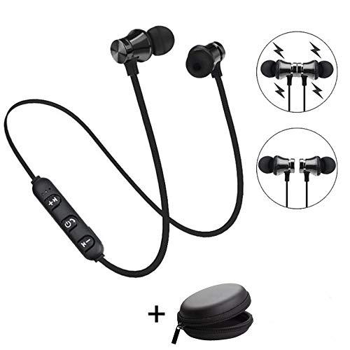 Bescita Bluetooth Sport in-Ear Kopfhörer, V4.2 IPX5 Schweißresistent Stereo magnetischer Sport Ohrhörer mit 10 Meter Reichweite, eingebautes Mikrofon für iPhone, Huawei und Samsung (Schwarz) - Samsung 4s Tablet Galaxy