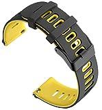Cobar per SUUNTO 3 Fitness Cinturino, 20 mm in Morbido Silicone, a sgancio rapido Universale per Huawei Watch 2,AMAZFIT bip,Nokia Steel HR 40MM,withings Steel HR 40MM,Pebble Time Round
