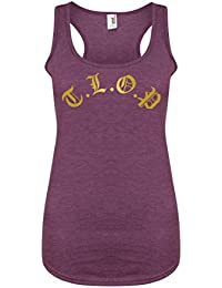 T.L.O.P - Purple - Women's Racerback Vest - Fun Slogan Tank Top