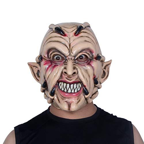 YKQ WS Halloween Devil Scary Latex Maske Thema Party Kostüm, Spukhaus Szene Dress up Requisiten