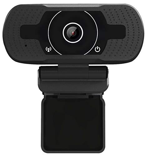 Anivia Full HD Webcam 1080p USB Streaming 8MP Kamera Webcams mit Doppelmikrofon Videoanruf und Aufnahme für Skype PC Laptop (W9 Black Webcam) Skype Laptop