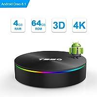 t95q Android 8.1TV Box De GB RAM GB ROM amlogic S905X 2Chérie Bluetooth 4.1HDMI 2.1h.2654K resolución 1000m Ethernet GHz y GHz Dual Band WiFi Video Player