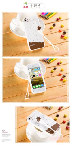 & Apple iPhone 5/5s/coque de protection en Silicone avec bretelles (Blanc glace)