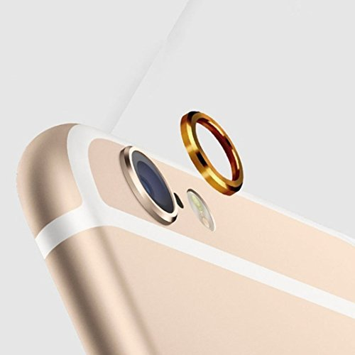 Shop Buzz Brand Camera Lens Protective Case Cover Ring of Golden Colour Installed for Apple iPhone 6/6s and for Apple Iphone 6+,(Golden)  available at amazon for Rs.113