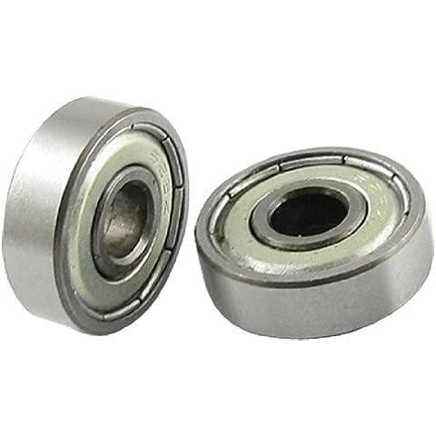 Rodamiento Cojinete de bolas de miniatura de ruedas de protección metal 6 x 19 x 6mm 626Z 5 Pcs