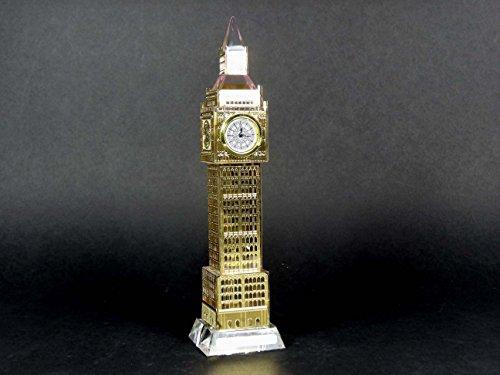 Kristall Big Ben Gold mit einer Arbeiten Uhr-Medium 19cm London Souvenir Kristall Big Ben Modell - Medium-uhr