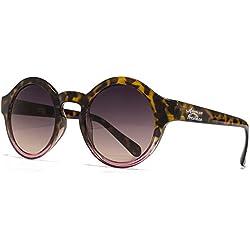 American Freshman Mode, Runde Sonnenbrillen in schildpatt bis rosa braun AFS007 One Size Brown Gradient