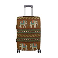 MyDaily Ethnic Elephant Tribal Stripe Luggage Cover Fits 18-32 inch Suitcase Spandex Travel Protector