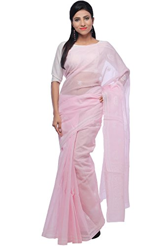 Bds Chikan Cotton Saree (Bds00367_Baby Pink)
