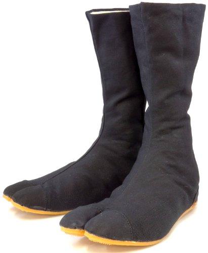 ikatabi Stiefel, Schuhe Rikio Ninja-Tabi! + Reisetasche (Schwarz (Black), JP 25 ungefähr EU 39UK 6.5) (Ninja Cosplay)