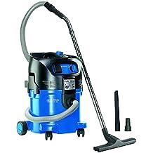 Nilfisk 107407544 - Aspirador monofásico de agua y polvo, 1500 W, depósito 30 l, caudal de aire 3700 l/min, color negro y azul
