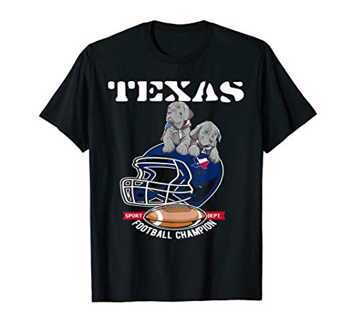 Texas Football Hund- Welpen mit Helm Shirt Trikot USA