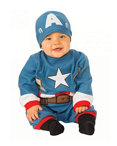 Horror-Shop Originales Captain America Baby Kostüm für Kleine Superhelden S 6-12-Monate