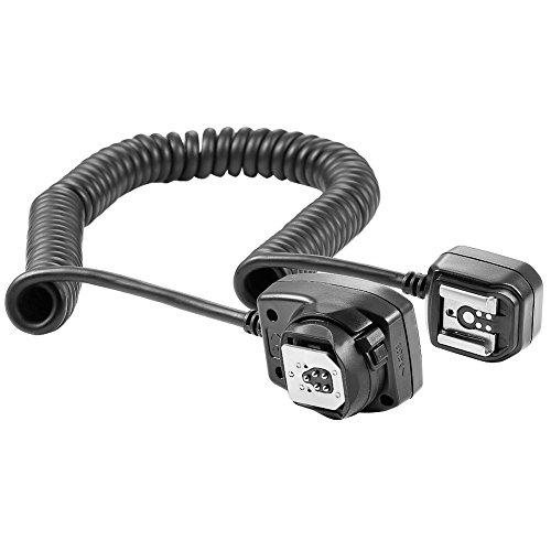 Neewer 4.9 feet/1.5 m TTL Off Camera Flash Speedlite Cord for Canon EOS 5D Mark II III