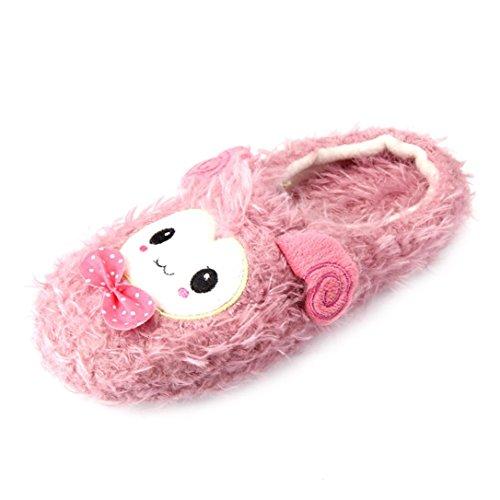 Pantofole Per Donna,Amlaiworld Cute Cartoon Caldo Casa Pantofole Coppia Dono Rosa