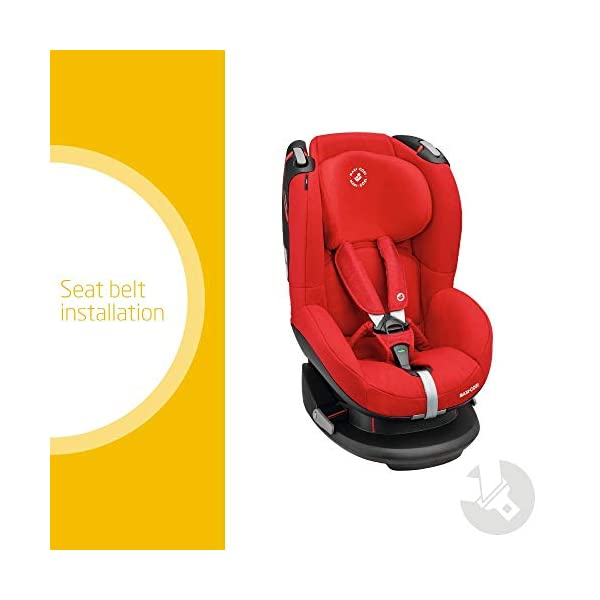 Maxi-Cosi Tobi Toddler Car Seat Group 1, Forward-Facing Reclining Car Seat, 9 Months-4 Years, 9-18 kg, Nomad Red Maxi-Cosi Forward facing group 1 car seat suitable for children from 9 to 18 kg (approx. 9 months to 4 years) Install with a 3-point car seat belt, with clear and intuitive seat belt routing High seating position allows toddler to watch outside the window 2