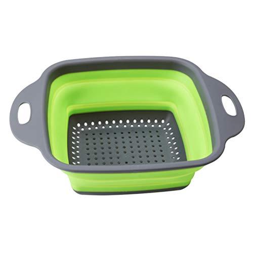 Bestonzon pasta strainer pieghevole colino pieghevole strumento di cucina colapasta per frutta verdura lavaggio multi funzionale cestino (colore casuale)