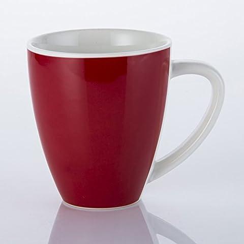 cappuccino crème tasse ceramic tasse,red 370 ml.