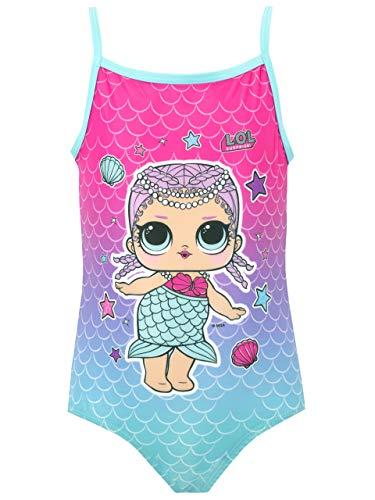LOL Surprise Bañador para Niña Merbaby Azul 4 a 5 Años
