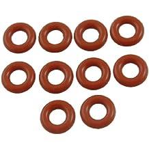 Sourcingmap–Arandelas de silicona para sellado de aceite, 12mm x 3mm, color rojo, 10 unidades