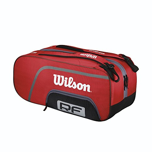 Wilson Schlägertasche Federer Team 12er Racketbag, Rot, 70 x 34 x 35 cm, 70 Liter, WRZ833512 (Tennis-taschen Wilson)