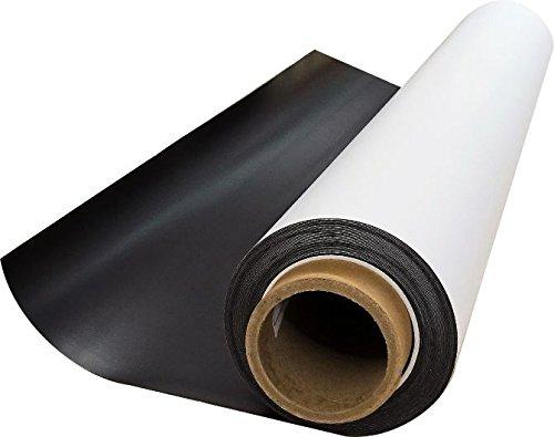1 Stk. Magnetfolie 0,85mm MAGSTICK® 518 | Art. mag_055 | Semi anisotrope, weiß beschichtet, flexibel, Magnetkraft für Auto, LKW, Fahrzeuge, Kühlschrankmagnet | 61 cm x 1 lfm | Digitaldruck bedruckbar