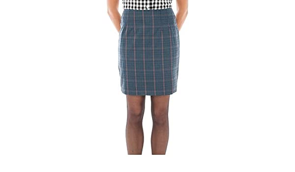 85b5074fac03 Relco Womens Blue Tweed Overcheck Fitted Skirt 60S Mod Skin Ska Skinbryd
